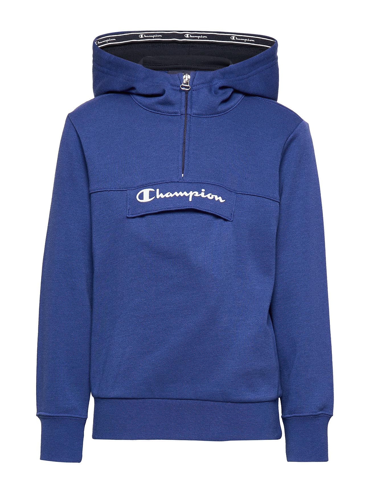 Champion Half Zip Hooded Sweatshirt - MAZARINE BLUE
