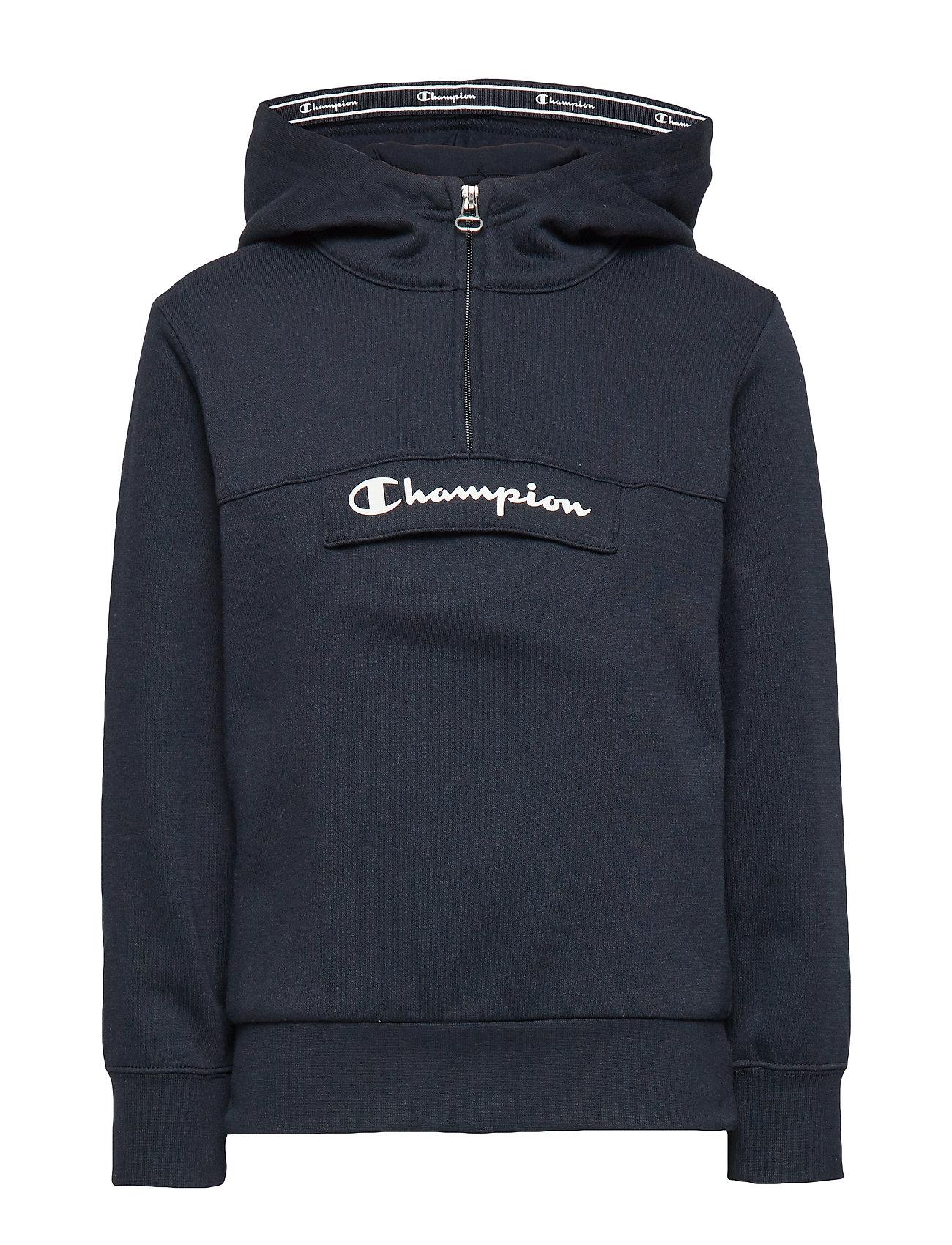 Champion Half Zip Hooded Sweatshirt - SKY CAPTAIN
