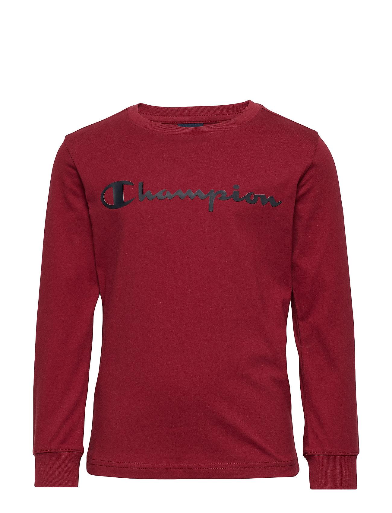Champion Crewneck Long Sleeve T-Shirt - BIKING RED
