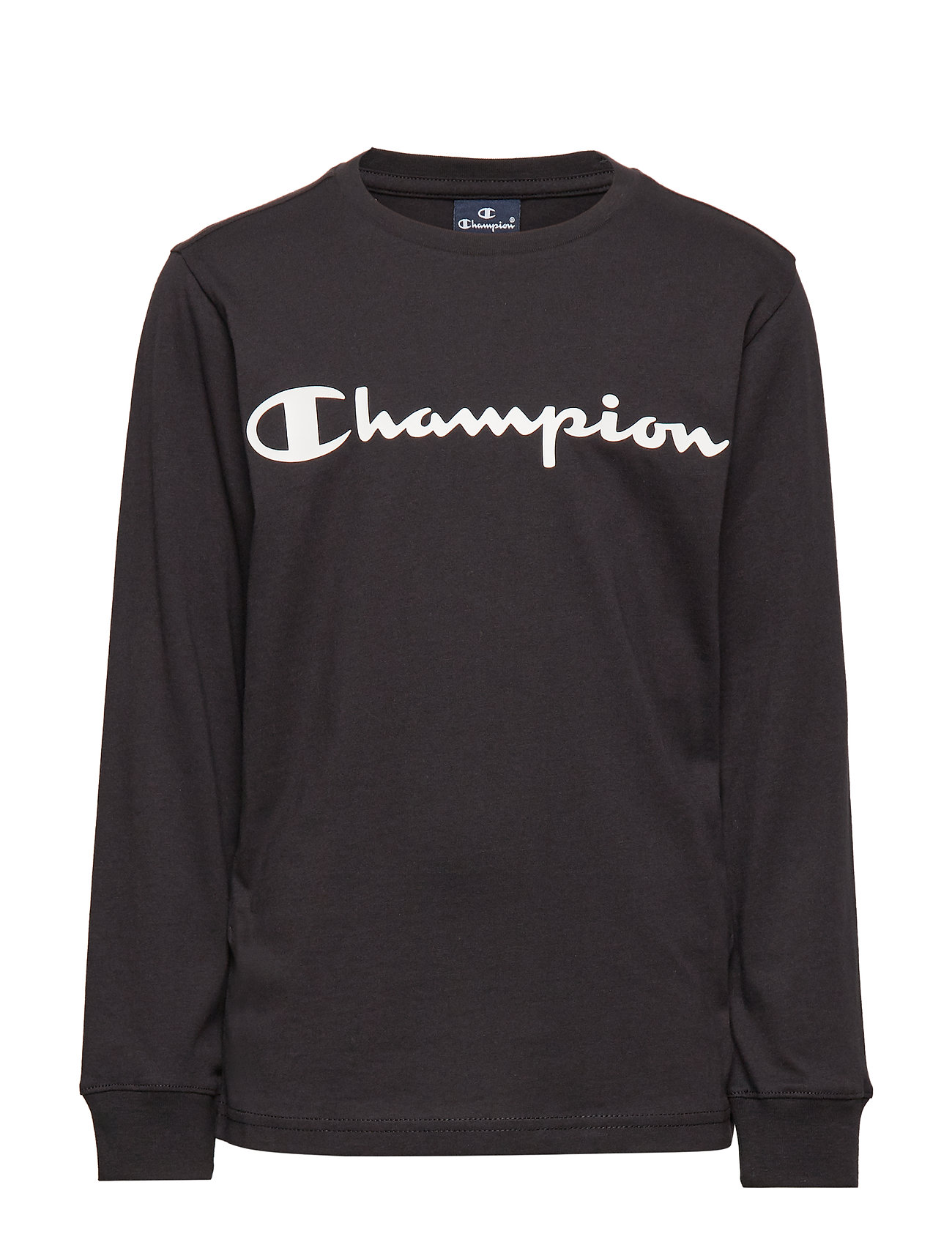 Champion Crewneck Long Sleeve T-Shirt - BLACK BEAUTY