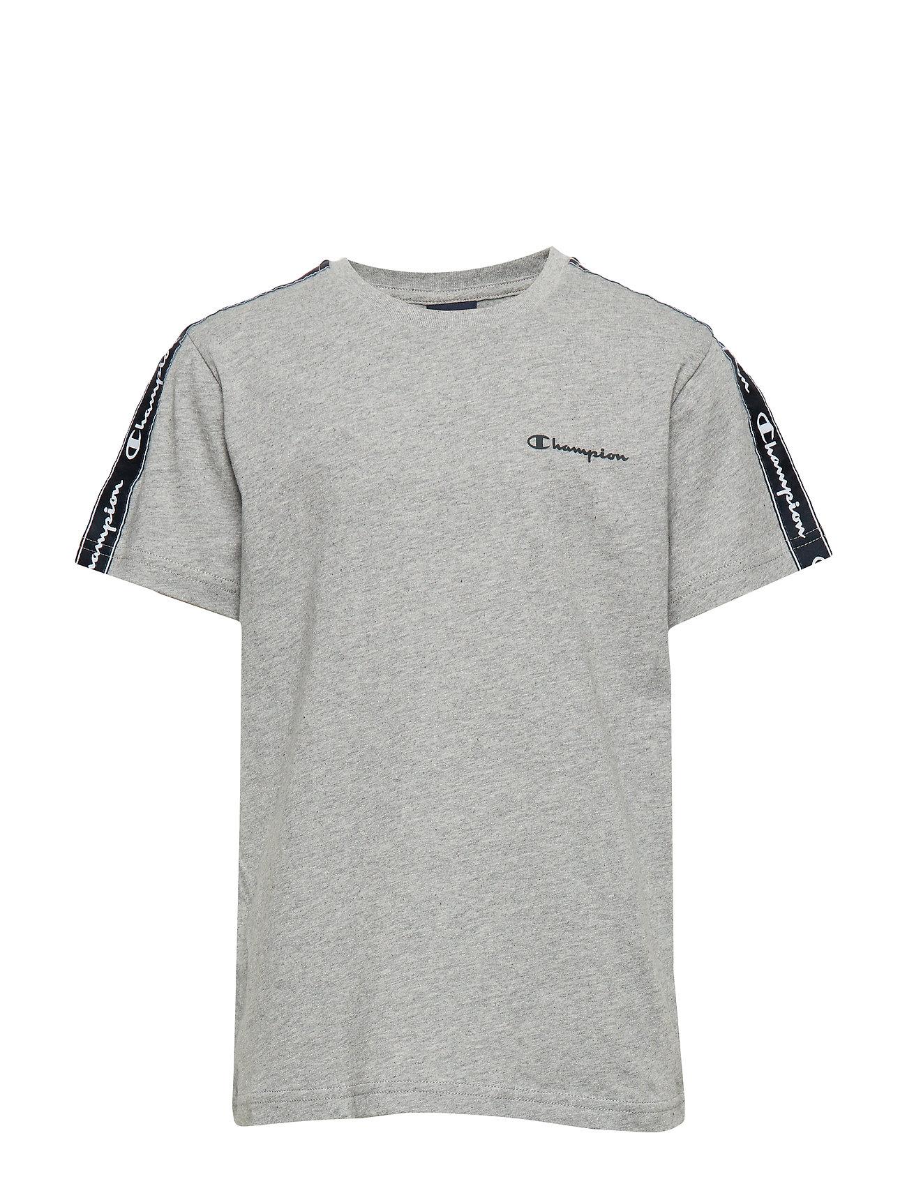Champion Crewneck T-Shirt - GRAY MELANGE LIGHT