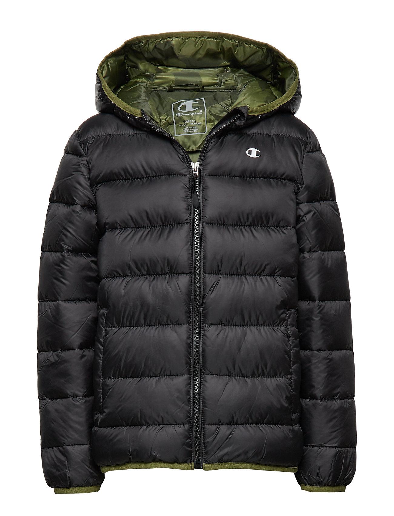 Champion Hooded Jacket - BLACK BEAUTY