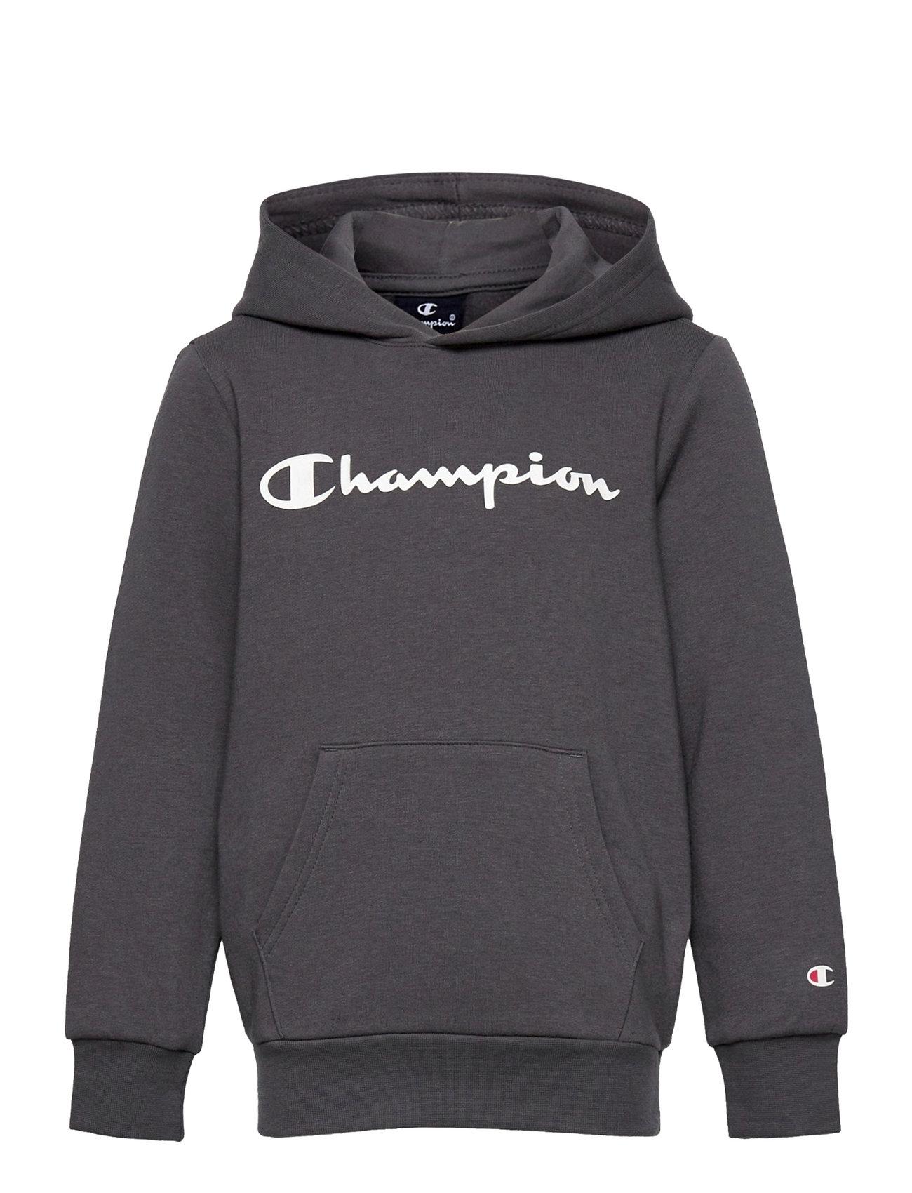 Hooded Sweatshirt Hoodie Trøje Grå Champion