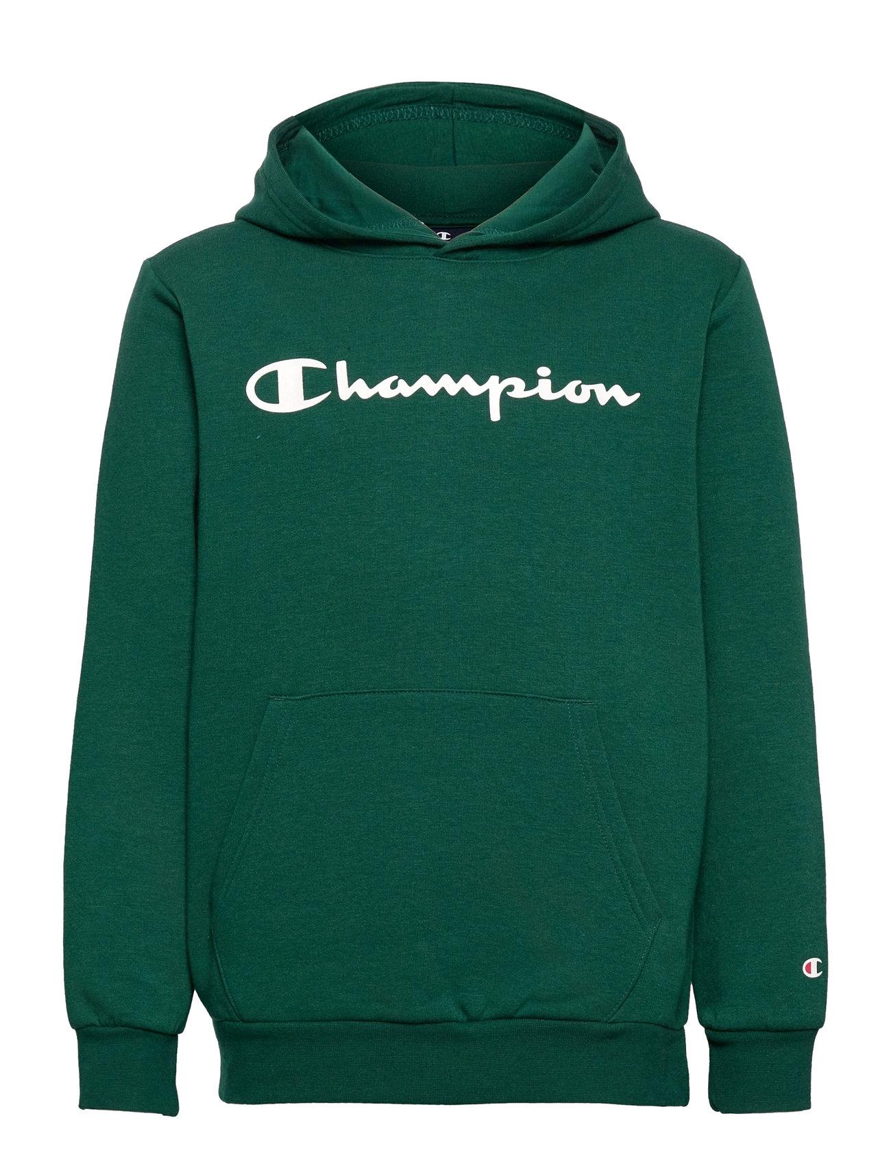 Hooded Sweatshirt Hoodie Trøje Grøn Champion