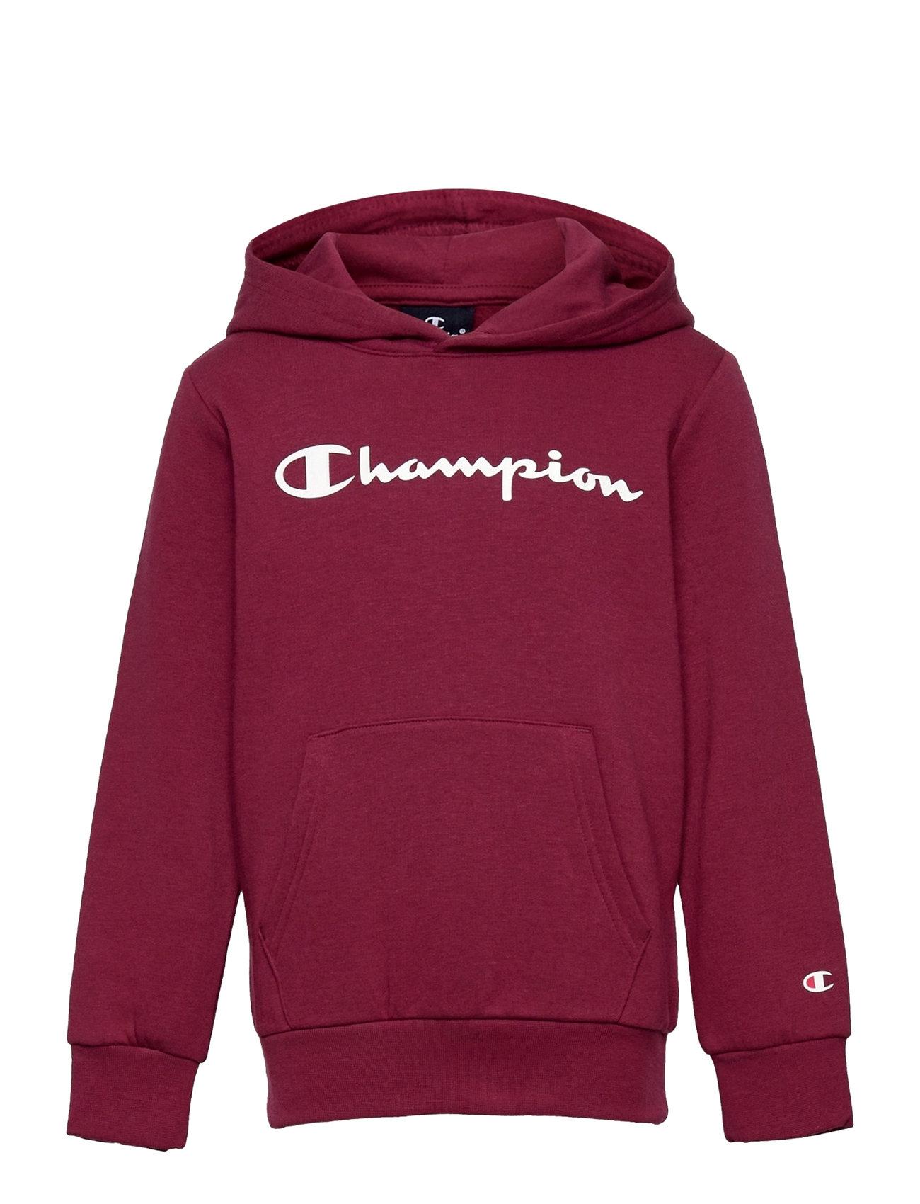 Hooded Sweatshirt Hoodie Trøje Lilla Champion