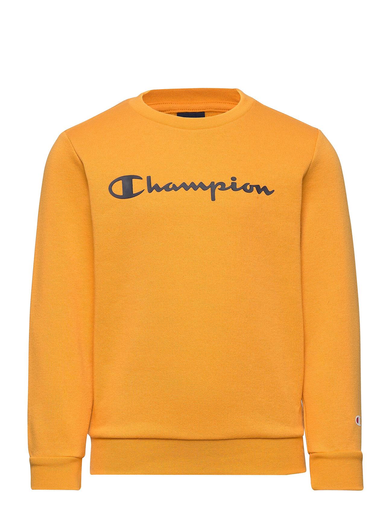 Crewneck Sweatshirt Sweatshirt Trøje Gul Champion