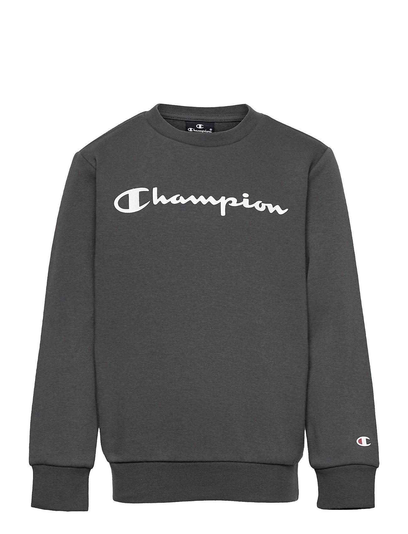 Crewneck Sweatshirt Sweatshirt Trøje Sort Champion