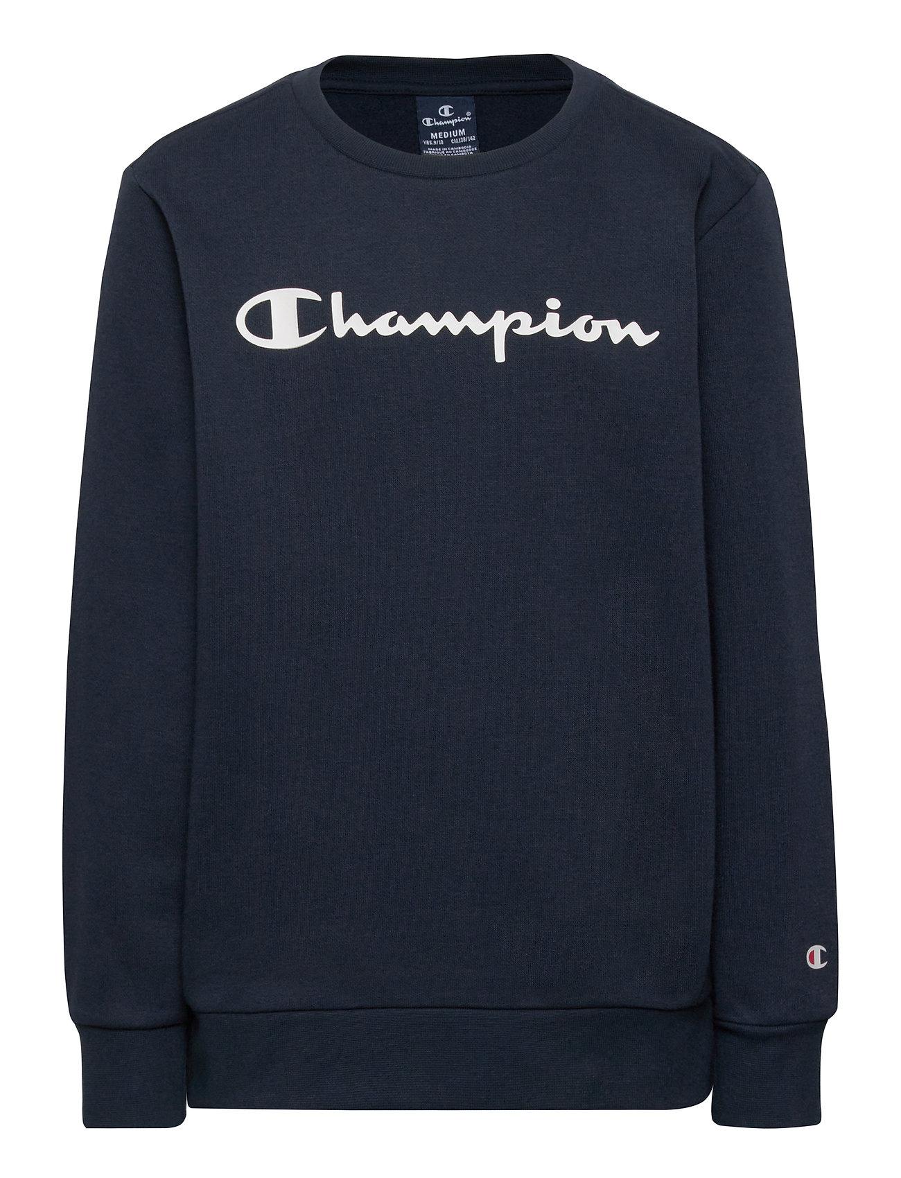 Crewneck Sweatshirt Sweatshirt Trøje Blå Champion