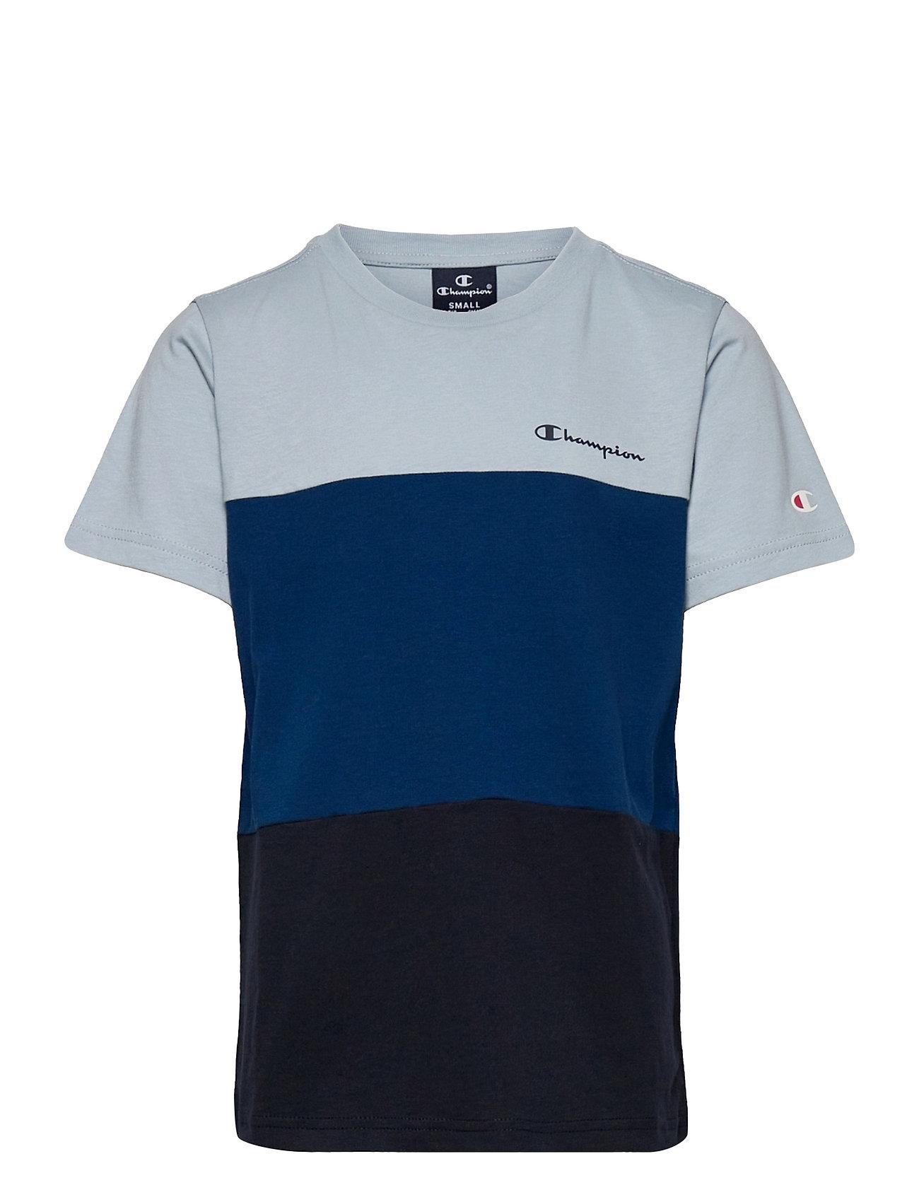 Crewneck T-Shirt T-shirt Blå Champion