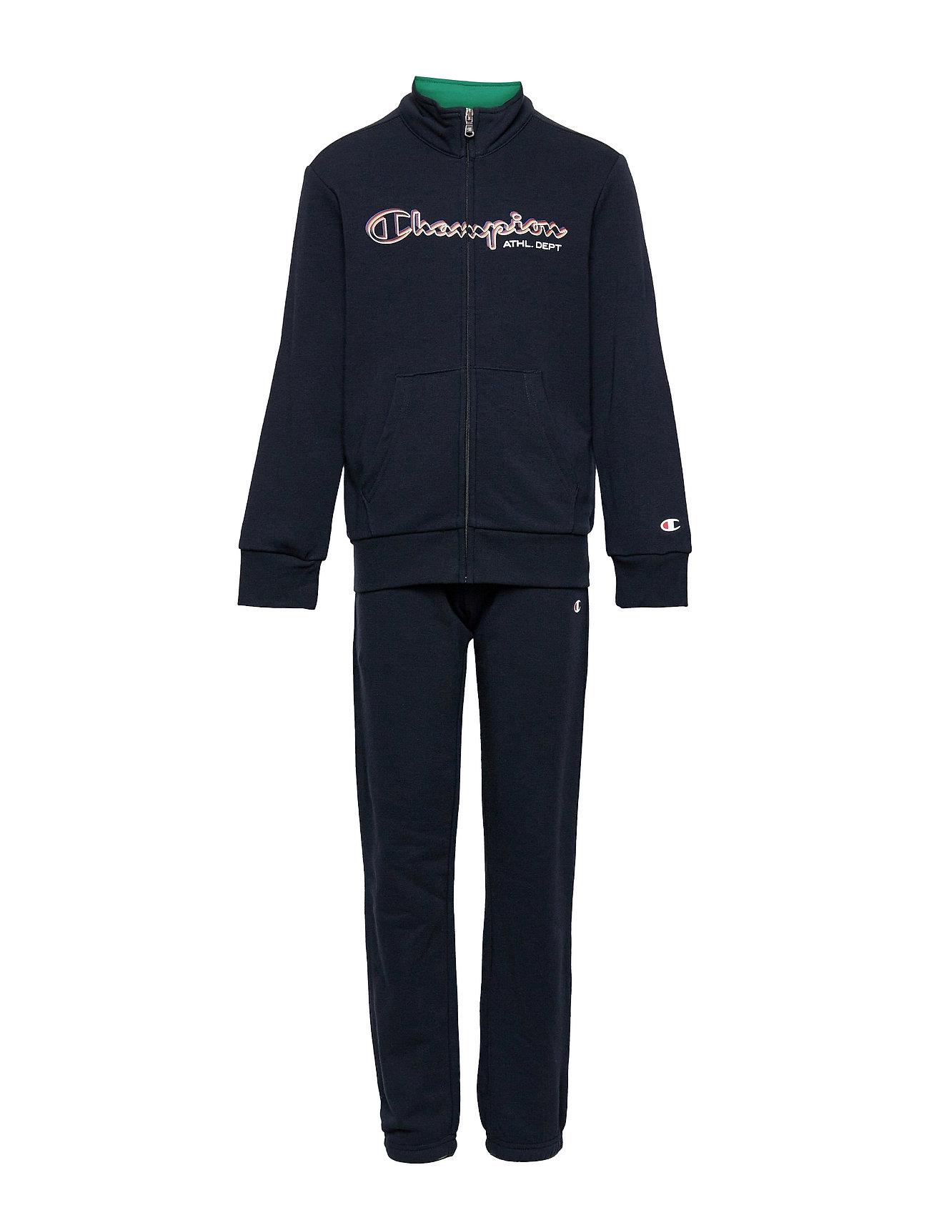 Full Zip Suit Tracksuit Blå Champion