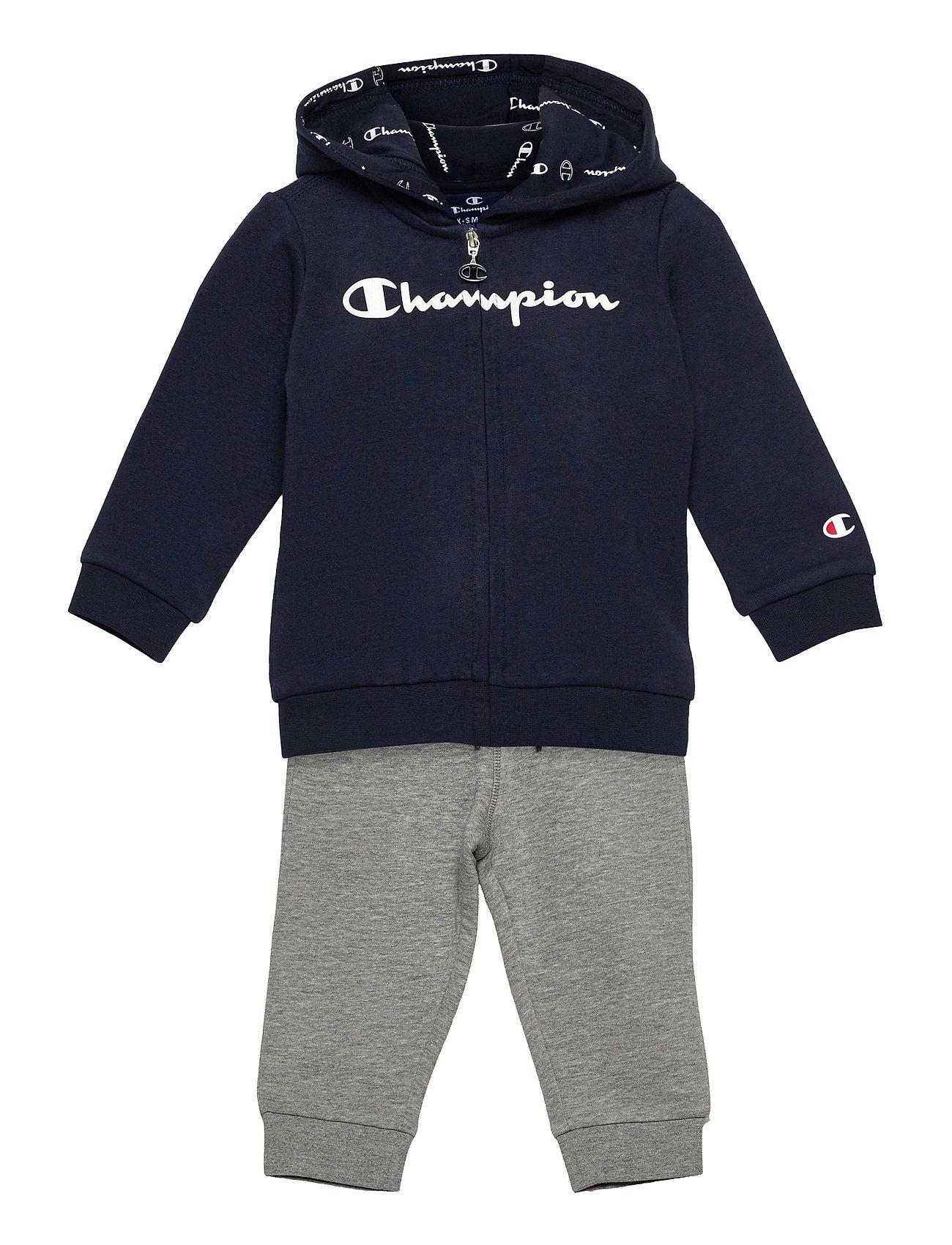 Hooded Full Zip Suit Tracksuit Blå Champion