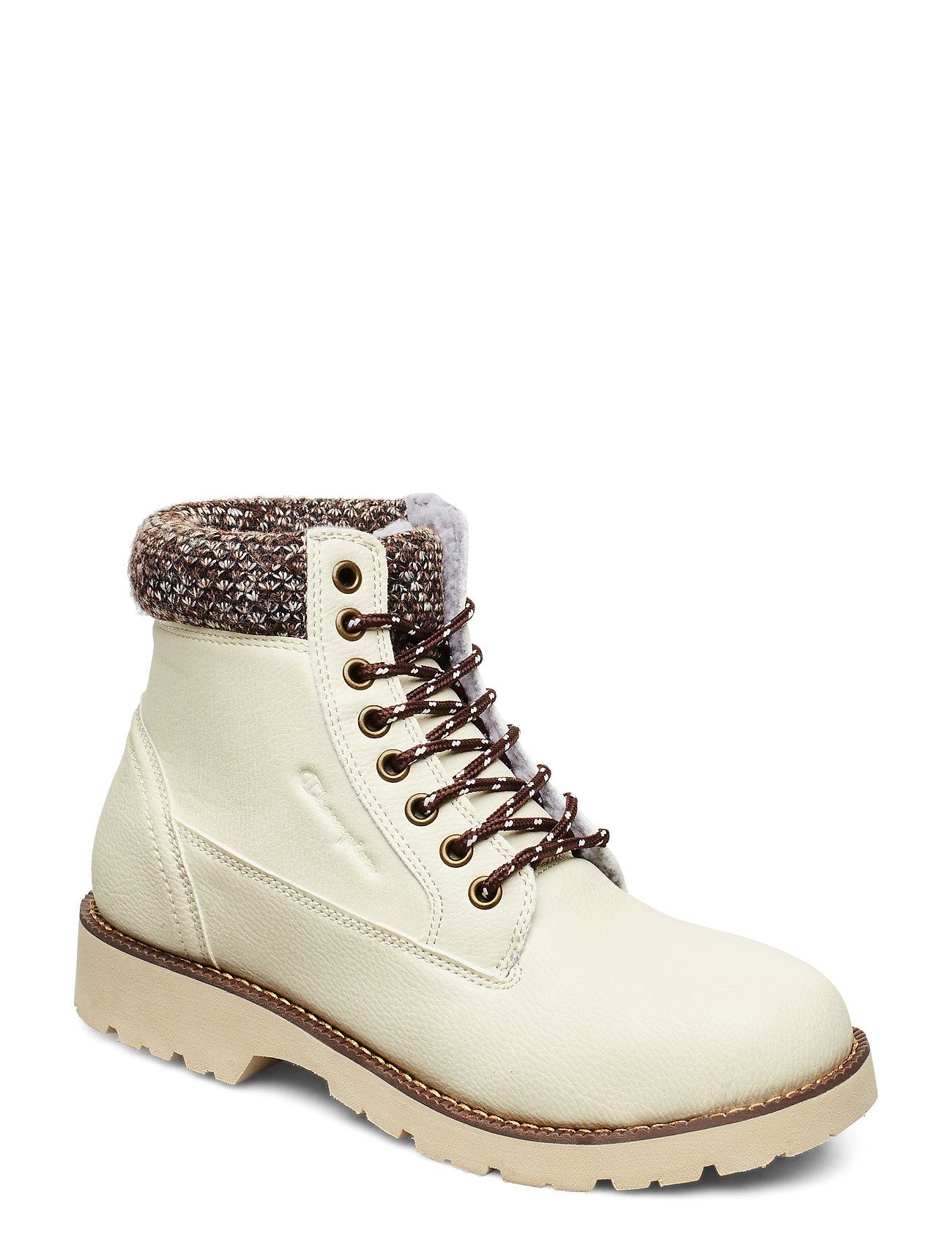 Image of High Cut Shoe Upstate Shoes Boots Ankle Boots Ankle Boots Flat Heel Beige Champion (3374003581)
