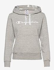 Hooded Sweatshirt - OXFORD GREY MELANGE YARN DYED