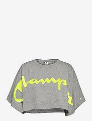 Champion - Crewneck T-Shirt - crop tops - gray melange light - 0
