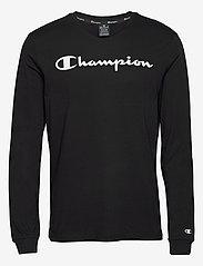 Champion - Crewneck Long Sleeve T-Shirt - langarmshirts - black beauty - 0