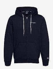Champion - Hooded Full Zip Sweatshirt - basic sweatshirts - sky captain - 0