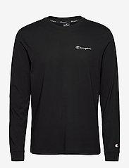 Champion - Long Sleeve Crewneck T-Shirt - langarmshirts - black beauty - 0