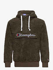 Champion - Hooded Half Zip Top - mid layer jackets - black olive - 0