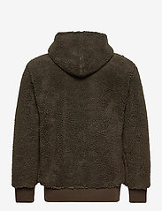 Champion - Hooded Half Zip Top - mid layer jackets - black olive - 1
