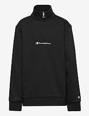 Champion - Half Zip Sweatshirt - sweatshirts - black beauty - 0