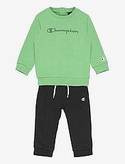 Champion - Crewneck Suit - tracksuits - jade cream - 0