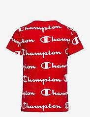 Champion - Crewneck T-Shirt - short-sleeved t-shirts - higt risk red al (hrr) - 1