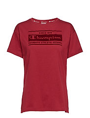 Crewneck T-Shirt - RUMBA RED