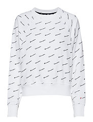 Crewneck Croptop - WHT/ALLOVER CHP6167
