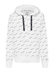 Hooded Full Zip Sweatshirt - WHT/ALLOVER CHP6167
