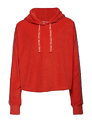 Hooded Sweatshirt - FLAME SCARLET