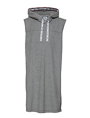 Maxi Hooded Sweatshirt - GRAY MELANGE LIGHT
