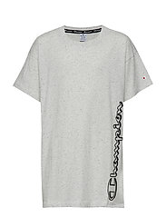 Maxi T-Shirt - LIGHT GREY BLACK DOTS MELANGE