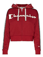 Hooded Full Zip Sweatshirt - BIKING RED