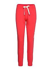 Elastic Cuff Pants - POPPY RED