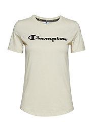 Crewneck T-Shirt - WHITE ASPARAGUS