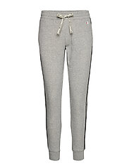 Rib Cuff Pants - GRAY MELANGE LIGHT