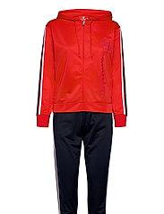Hooded Full Zip Suit - FLAME SCARLET