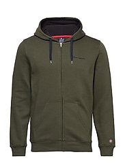 Hooded Full Zip Sweatshirt - DEEP DEPTHS