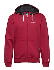 Hooded Full Zip Sweatshirt - RUMBA RED