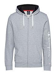 Hooded Full Zip Sweatshirt - GRAY MELANGE LIGHT