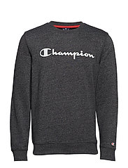 Crewneck Sweatshirt - WHITE BLACK JASPE MELANGE