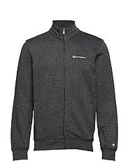 Full Zip Sweatshirt - WHITE BLACK JASPE MELANGE