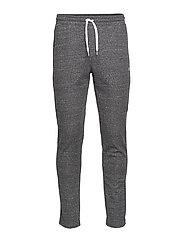 Straight Hem Pants - NEW CHARCOAL GREY MELANGE DARK