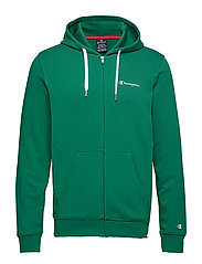 Hooded Full Zip Sweatshirt - VERDANT GREEN
