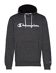Hooded Sweatshirt - WHITE BLACK JASPE MELANGE