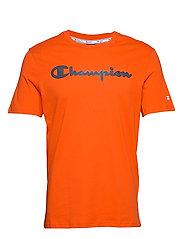 Crewneck T-Shirt - TANGERINE TANGO