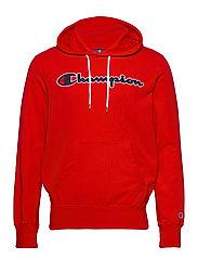 Hooded Sweatshirt - FLAME SCARLET