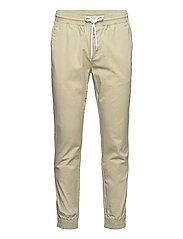 Elastic Cuff Pants - WHITE PEPPER
