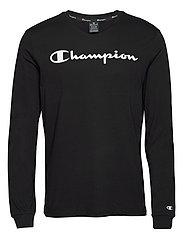 Crewneck Long Sleeve T-Shirt - BLACK BEAUTY