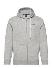 Hooded Full Zip Sweatshirt - NEW OXFORD GREY MELANGE